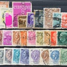 Sellos: FICHA SELLOS USADOS REPÚBLICA ITALIA. Lote 201239687