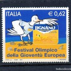 Sellos: ++ SELLO DE ITALIA AÑO 2005 USADO. Lote 202490761