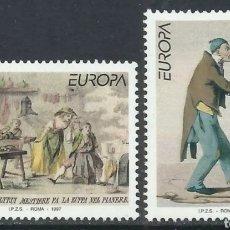 Sellos: ITALIA, N°2225/26 MNH, CUENTOS Y LEYENDAS, EUROPA CEPT 1997 (FOTOGRAFÍA REAL). Lote 202625663