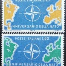 Sellos: 1970. ITALIA. 1063 / 1064. AÑO EUROPEO DE LA CONSERVACIÓN DE LA NATURALEZA. SERIE COMPLETA. NUEVO.. Lote 203245117