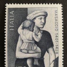 Sellos: ITALIA N°1361 MNH, MASACCIO 1978(FOTOGRAFÍA REAL). Lote 203487480