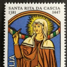 Sellos: ITALIA N°1482 MNH SANTA RITA 1981 (FOTOGRAFÍA REAL). Lote 203488426