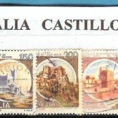 Sellos: LOTE DE SELLOS DE ITALIA. SERIE CASTILLOS. Lote 203541486
