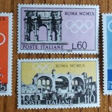 Sellos: ITALIA, OLIMPIADAS 1959,MNH (FOTOGRAFÍA REAL). Lote 203557171
