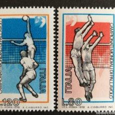 Sellos: ITALIA N°1356/57 MNH, DEPORTES 1978 (FOTOGRAFÍA REAL). Lote 203561940