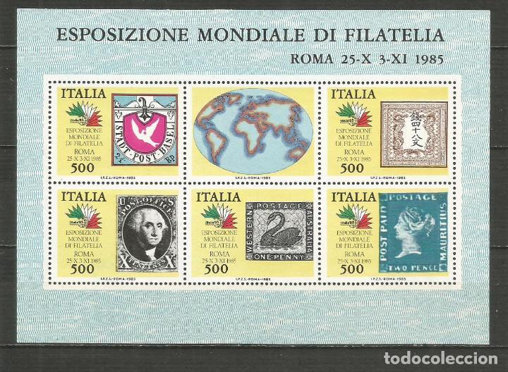 ITALIA HOJA BLOQUE EXPOSICION MUNDIAL DE FILATELIA ROMA NUEVA SIN FIJASELLOS (Sellos - Extranjero - Europa - Italia)