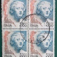 Sellos: ITALIA, SELLOS EN BLOQUE DE 4 USADOS. Lote 204091973