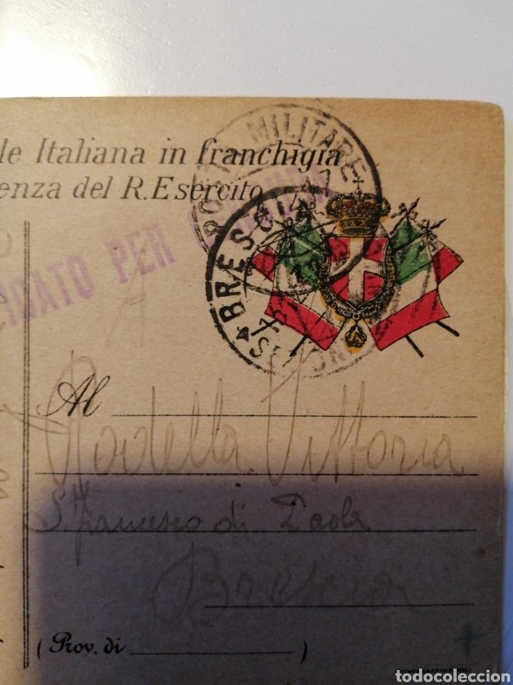 Sellos: Cartulina postal Italiana franquicia dos piezas - Foto 2 - 204195160