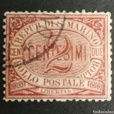 Sellos: SAN MARINO, N°26, AÑO 1894 USADO (FOTOGRAFÍA REAL). Lote 206282846