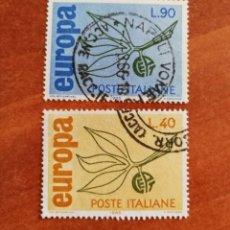 Sellos: ITALIA, EUROPA CEPT 1965 USADA (FOTOGRAFÍA REAL). Lote 212579402