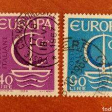 Sellos: ITALIA, EUROPA CEPT 1966 USADA (FOTOGRAFÍA REAL). Lote 212581166