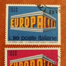 Sellos: ITALIA, EUROPA CEPT 1968 USADA (FOTOGRAFÍA REAL). Lote 212631716