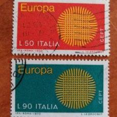 Sellos: ITALIA, EUROPA CEPT 1970 USADA (FOTOGRAFÍA REAL). Lote 212637946