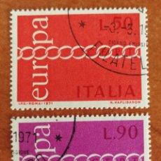 Sellos: ITALIA, EUROPA CEPT 1971 USADA (FOTOGRAFÍA REAL). Lote 212665998