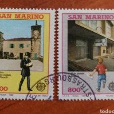 Timbres: SAN MARINO, EUROPA CEPT 1990 USADO (FOTOGRAFÍA REAL). Lote 213731030