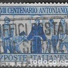 Sellos: SELLO USADO DE ITALIA, YT 278 FOTO ORIGINAL. Lote 213973312