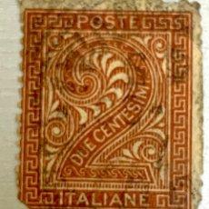 Sellos: SELLO ITALIA 2 CENT SIN DENTAR DERECHA Y ARRIBA . VARIEDAD RARA Y DIFICIL .. Lote 215124440