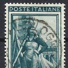 Timbres: ITALIA 1950 - ITALIA TRABAJANDO, 65 LIRAS VERDE OSCURO - USADO. Lote 218601743