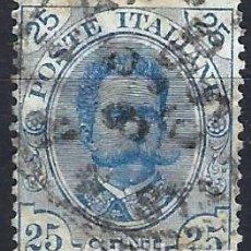 Sellos: ITALIA 1893-96 - REY UMBERTO I, NUEVOS DISEÑOS - USADO. Lote 218739062