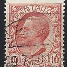 Francobolli: ITALIA 1906 - VÍCTOR MANUEL III - USADO. Lote 218755900
