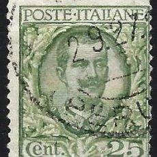 Francobolli: ITALIA 1926 - VÍCTOR MANUEL III, NUEVOS VALORES Y COLORES - USADO. Lote 218757323