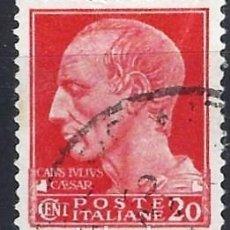 Francobolli: ITALIA 1929 - SERIE IMPERIAL, JULIO CESAR - USADO. Lote 218820478