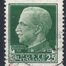 Francobolli: ITALIA 1929 - SERIE IMPERIAL, VÍCTOR MANUEL III - USADO. Lote 218820578