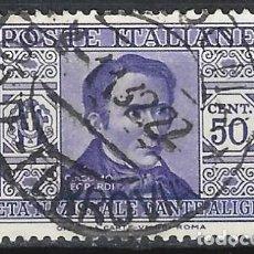 Sellos: ITALIA 1932 - SOCIEDAD DANTE ALIGHIERI - USADO. Lote 218829756