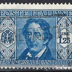 Sellos: ITALIA 1932 - SOCIEDAD DANTE ALIGHIERI - USADO. Lote 218829912