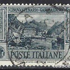 Sellos: ITALIA 1932 - 50º ANIVERSARIO DE LA MUERTE DE GARIBALDI - USADO. Lote 218830051