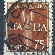 Sellos: ITALIA 1932 - ESTATUA DE LA VICTORIA, AÉREO - USADO. Lote 218830486