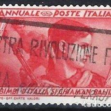 Sellos: ITALIA 1932 - 10º ANIV. DE LA MARCHA SOBRE ROMA - USADO. Lote 218830955