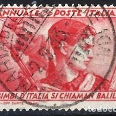 Sellos: ITALIA 1932 - 10º ANIV. DE LA MARCHA SOBRE ROMA - USADO. Lote 218831010