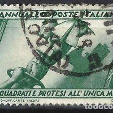 Sellos: ITALIA 1932 - 10º ANIV. DE LA MARCHA SOBRE ROMA - USADO. Lote 218831383