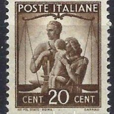 Francobolli: ITALIA 1945 - DEMOCRACIA - MH*. Lote 219101075