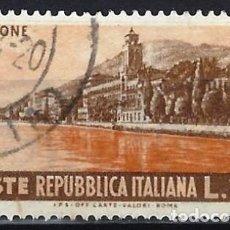 Francobolli: ITALIA 1953 - PUBLICIDAD TURÍSTICA, GARDONE - USADO. Lote 219178510
