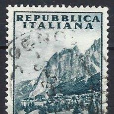 Francobolli: ITALIA 1953 - PUBLICIDAD TURÍSTICA, CORTINA D´AMPEZZO - USADO. Lote 219178575