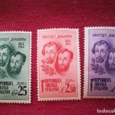 Sellos: SET SELLOS ANTIGUO ITALIA 1944 ESTILO NAZI CON GOMA. Lote 220263418