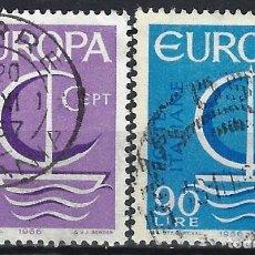 Sellos: ITALIA 1966 - EUROPA, S.COMPLETA - USADOS. Lote 220787641