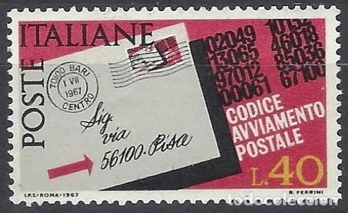 ITALIA 1967 - INTRODUCCIÓN DE LOS CÓDIGOS POSTALES - MNH** (Sellos - Extranjero - Europa - Italia)