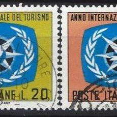 Sellos: ITALIA 1967 - AÑO INTERNACIONAL DEL TURISMO, S.COMPLETA - USADOS. Lote 220808903