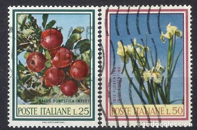 ITALIA 1967 - FRUTAS Y FLORES, S.COMPLETA - USADOS (Sellos - Extranjero - Europa - Italia)