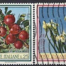 Sellos: ITALIA 1967 - FRUTAS Y FLORES, S.COMPLETA - USADOS. Lote 220809062
