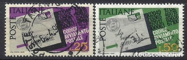 ITALIA 1968 - INTRODUCCIÓN DE LOS CÓDIGOS POSTALES, S.COMPLETA - USADOS (Sellos - Extranjero - Europa - Italia)