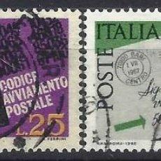 Sellos: ITALIA 1968 - INTRODUCCIÓN DE LOS CÓDIGOS POSTALES, S.COMPLETA - USADOS. Lote 220809253