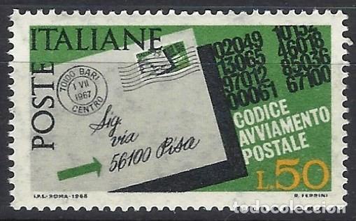 ITALIA 1968 - INTRODUCCIÓN DE LOS CÓDIGOS POSTALES - MNH** (Sellos - Extranjero - Europa - Italia)
