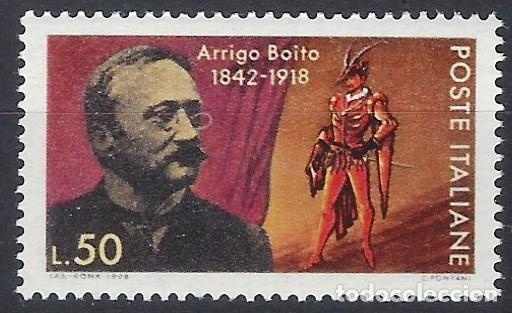 ITALIA 1968 - 50º ANIVERSARIO DE LA MUERTE DE BOITO - MNH** (Sellos - Extranjero - Europa - Italia)