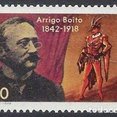 Sellos: ITALIA 1968 - 50º ANIVERSARIO DE LA MUERTE DE BOITO - MNH**. Lote 220809520