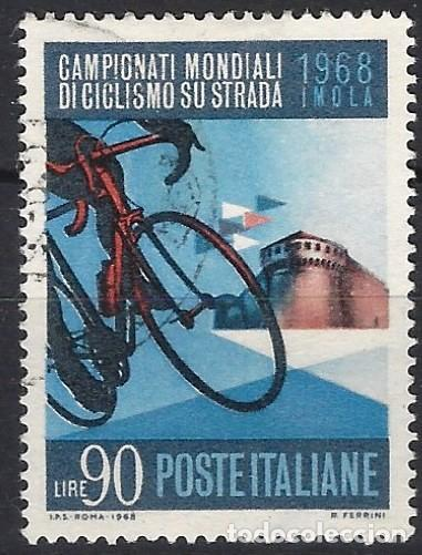 ITALIA 1968 - CAMPEONATO MUNDIAL DE CICLISMO - USADO (Sellos - Extranjero - Europa - Italia)