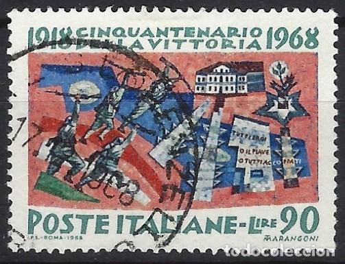 ITALIA 1968 - 50º ANIV. DE LA VICTORIA ALIADA EN LA 1ª GUERRA MUNDIAL - USADO (Sellos - Extranjero - Europa - Italia)